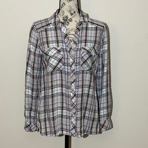 Soft Joie Flannel Pink & White Size Small